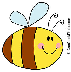 Pudgy Bee - Flying Bee Cartoon Character