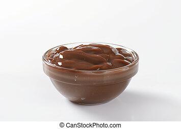 puding, csokoládé