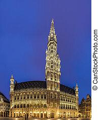 pueblo, belgium., bruselas, vestíbulo