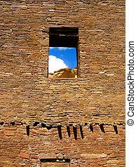 Pueblo Bonito in Chaco Canyon, NM, USA