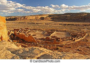 Pueblo Bonito, Chaco Culture National Historical Park, New...