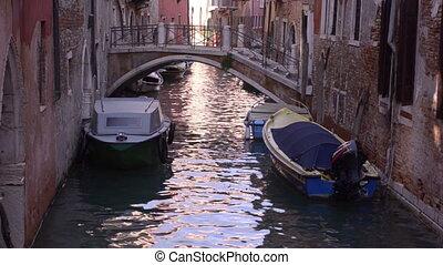 pueblo, canales, viejo, venezia.