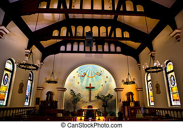 pueblo, diego, viejo, san, california, iglesia, concepción, inmaculado