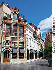 pueblo, edificios, viejo, brussels., histórico