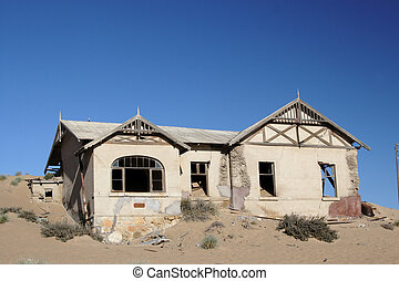 pueblo fantasma, abandonado, casa, kolmanskop, namibia