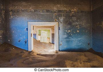 pueblo fantasma, kolmanskop, namibia, abandonado