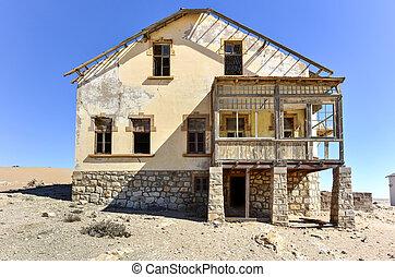 pueblo fantasma, namibia, kolmanskop