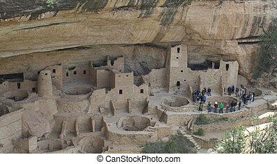 Pueblo Indian Ruins #1 w/ people