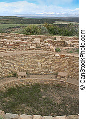 Pueblo Indian sandstone dwellings,
