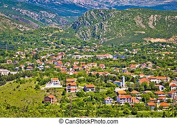 pueblo, montaña, dinara, knin