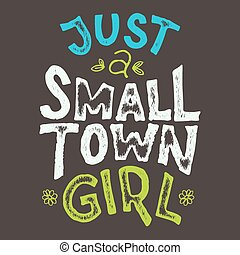 pueblo pequeño, niña, camiseta