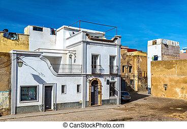 pueblo, portugués, edificios, el, mazagan, marruecos, jadida