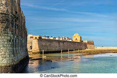 pueblo, portugués, el, mazagan, marruecos, fortificaciones, ...