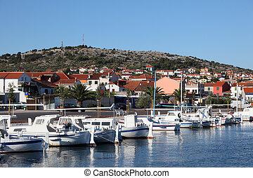 pueblo, puerto deportivo, murter, croata