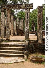 pueblo, ruinas, polonnaruwa