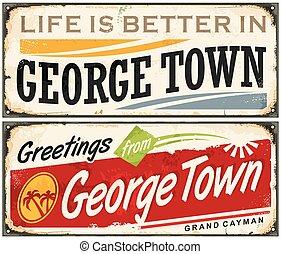 pueblo, saludos, george