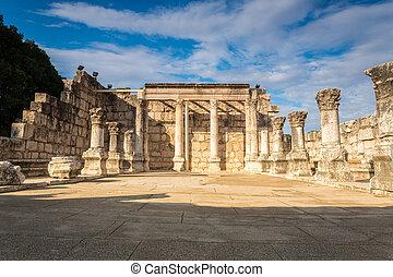 pueblo, sinagoga, capernaum, jesús
