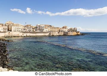 pueblo viejo, de, syracuse, sicilia