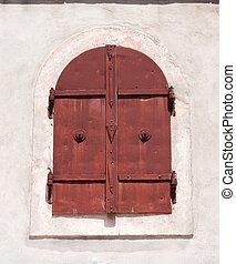 pueblo, viejo, detalle, mostar, ventana