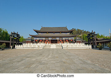pueblo viejo, residencia, yunnan, lijiang, mu, china