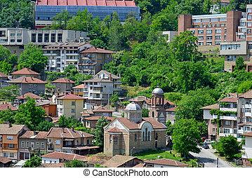 pueblo, viejo, veliko, bulgaria, tarnovo, vista