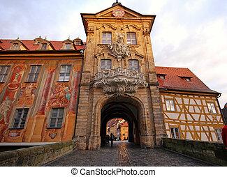 pueblo, viejo, vestíbulo, bamberg(germany)