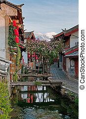 pueblo viejo, yunnan, lijiang, calle, china