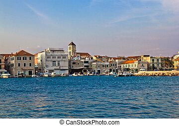 pueblo, vodice, puerto, adriático, croacia, dalmatia