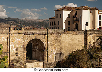 """""""Puenta Nueva"""" - the bridge connecting the two parts of the spanish town Ronda in Andalusia, Spain."""