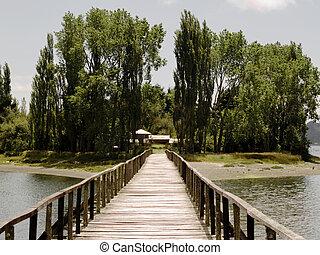 puente, a, isla