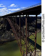 puente, a través de, río