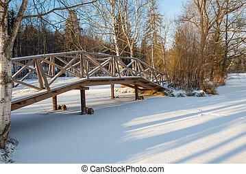 puente, abramtsevo, museum-reserve., charca