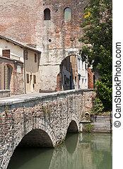 puente, antiguo, castelfranco, (treviso, italy), -, veneto, ...