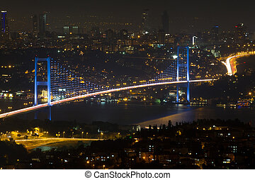puente, bósforo, colina, estambul, camlica