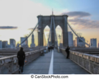 Puente,  Brooklyn, ocaso