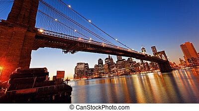 puente, brooklyn, york, nuevo