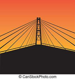 puente cable - suspender
