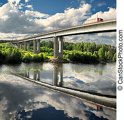 puente, camión