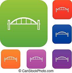 puente, conjunto, colección