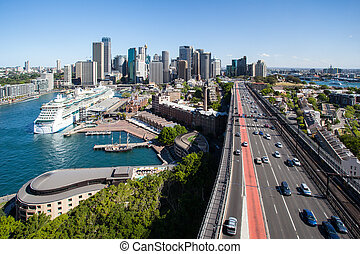 puente, contorno, puerto de sydney