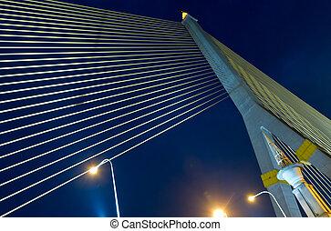 puente, crepúsculo, rama8