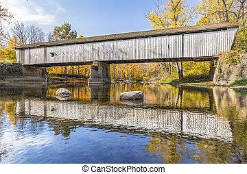 puente cubierto, en, darlington