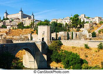 Puente de Alcantara in Toledo. Spain - day view of Puente de...