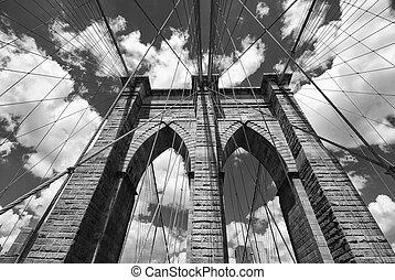 puente de brooklyn, arquitectura