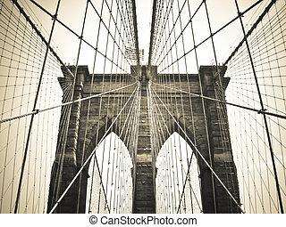 puente de brooklyn, bronce