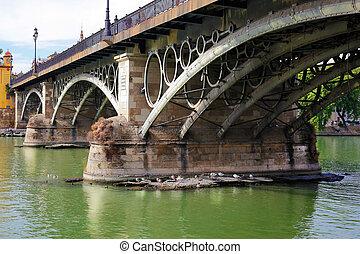 Puente de Isabel II Seville Spain - the bridge Puente de...