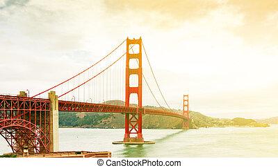 puente de la puerta de oro, en, san francisco