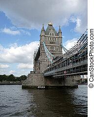 puente de torre, andamio