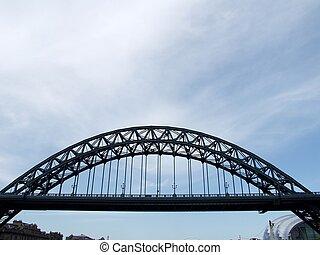 puente de tyne, en, newcastle sobre tyne