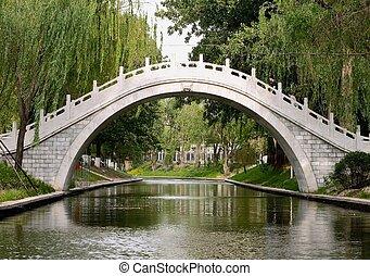 puente, de, zizhu, parque, beijing, china